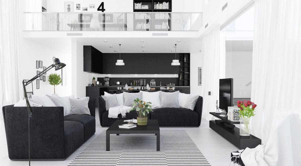 Warna monokromatik yang seimbang, via home-designing.com