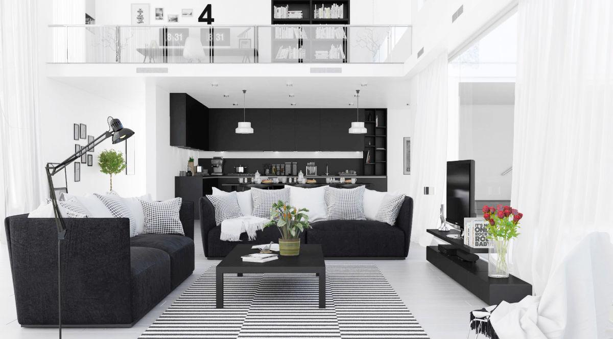 Warna monokromatik yang seimbang (Sumber: home-designing.com)