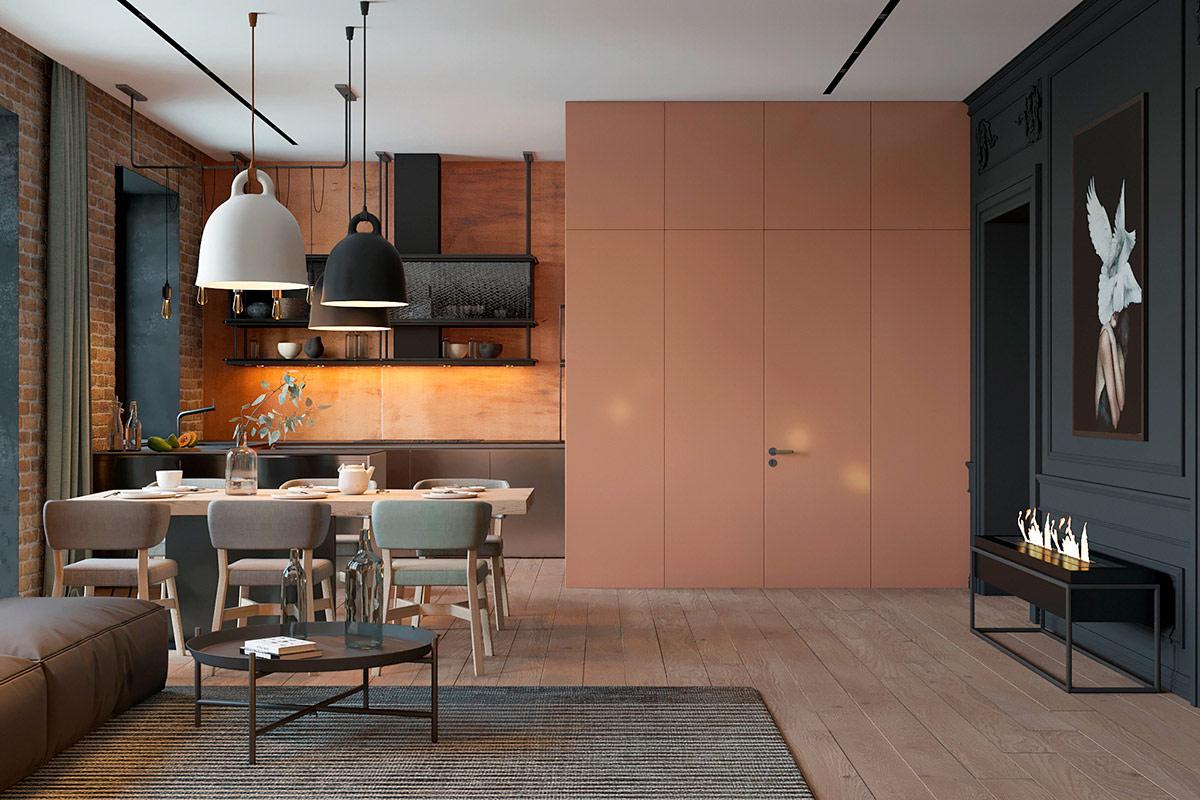 Konsep open plan untuk dapur, ruang makan, dan ruang keluarga (Sumber: home-designing.com)