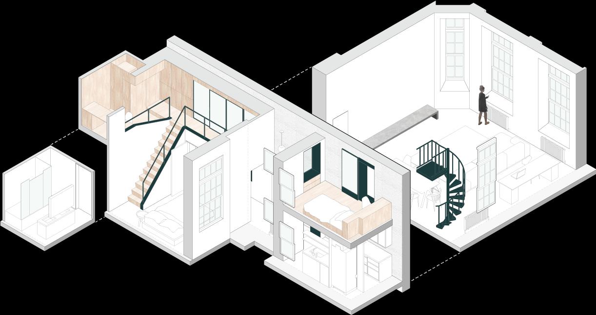Gambar 3D apartemen Jennifer Chang (Sumber: jennchang.com)