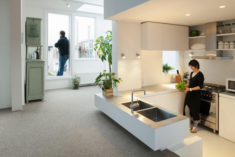 Dapur yang dibuat lebih rendah (Sumber: home-designing.com)