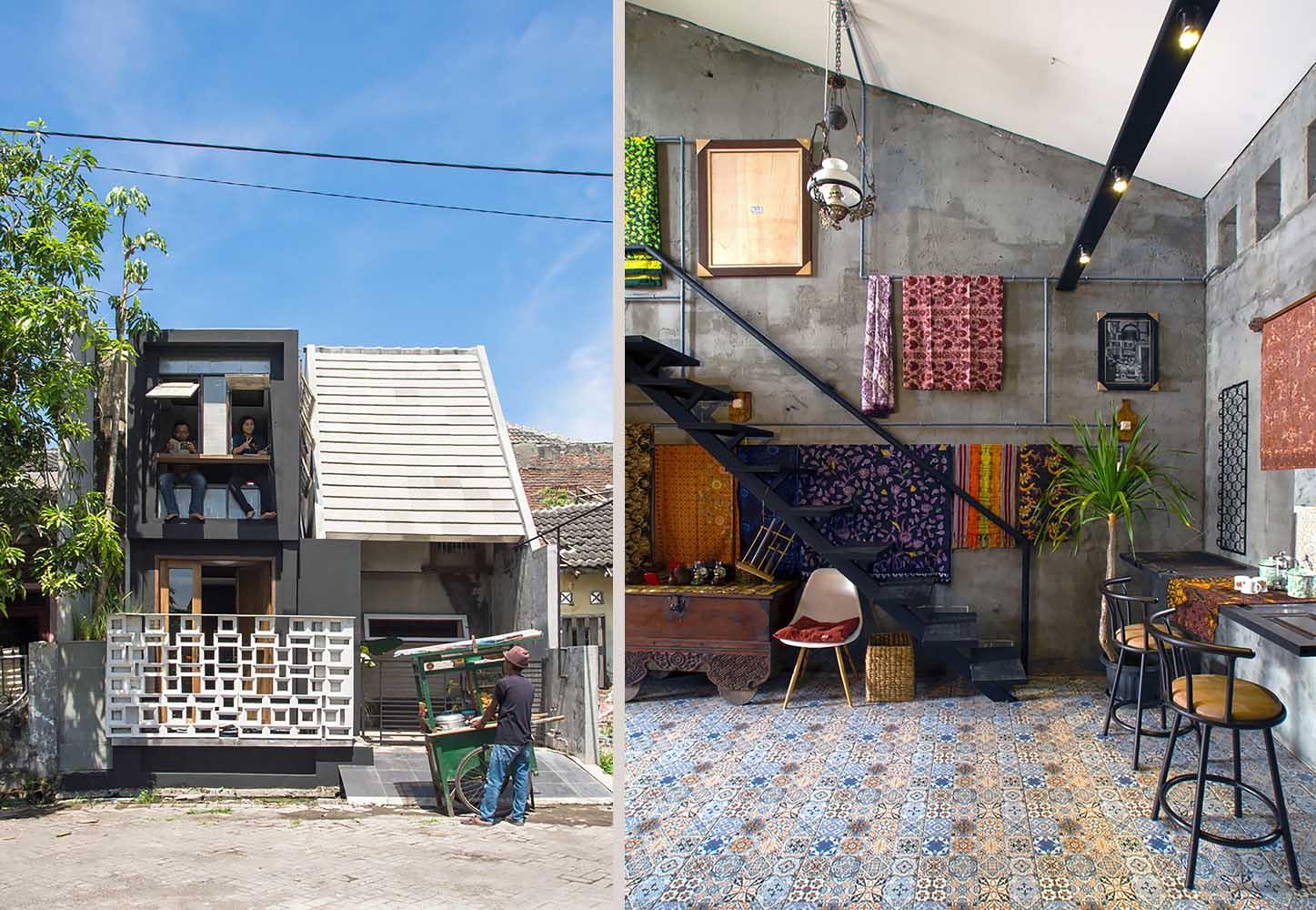 Desain Rumah Mungil Industrial Eklektik Yang Tampil Unik Dengan Budaya Lokal Arsitag