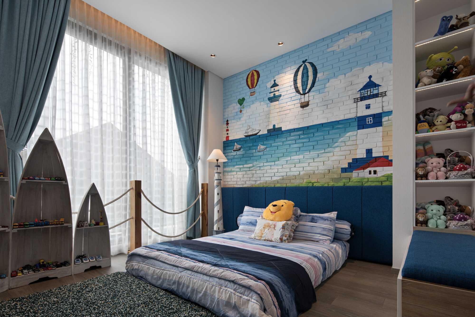 Kamar tidur anak B House karya Gohte Shafuji (Sumber: arsitag.com)