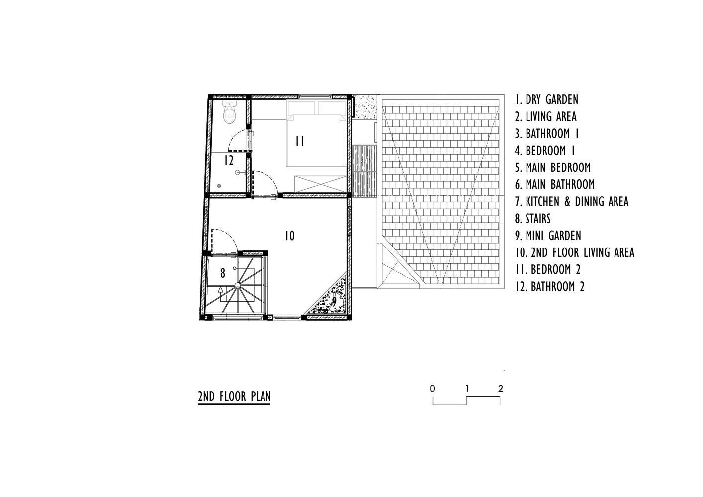 Denah lantai 1 dan 2 (Sumber: archdaily.com)