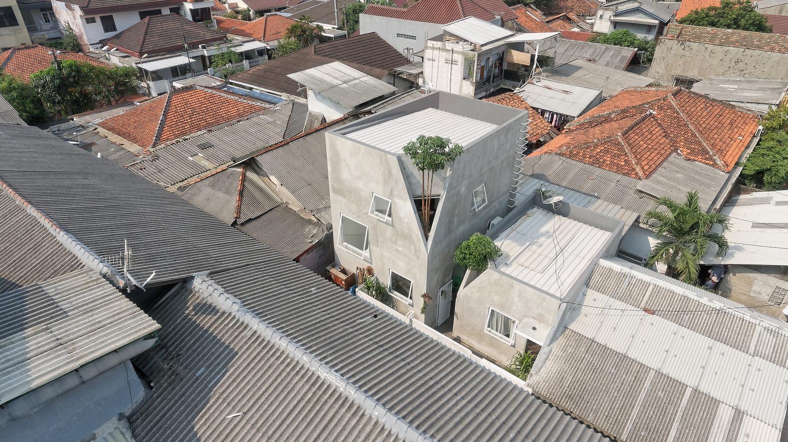 Dua bangunan The Twins dilihat dari atas (Sumber: Arsitag.com)