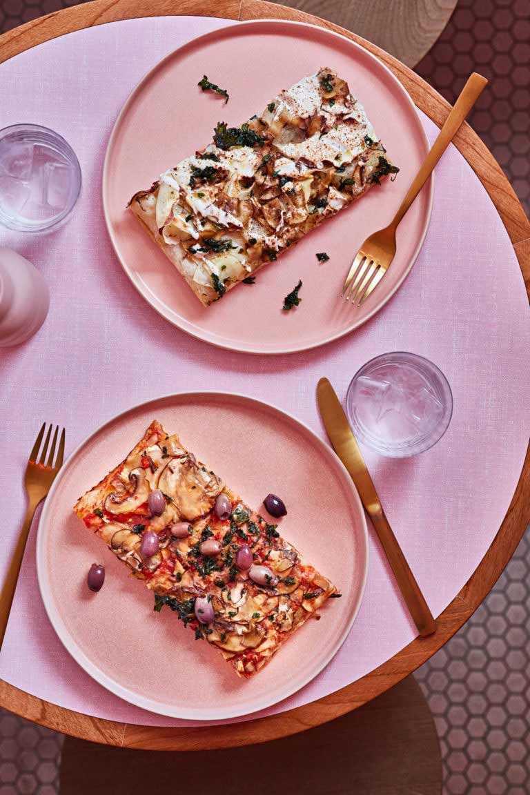 Perkakas makan Humble Pizza karya Child Studio, via design-milk.com