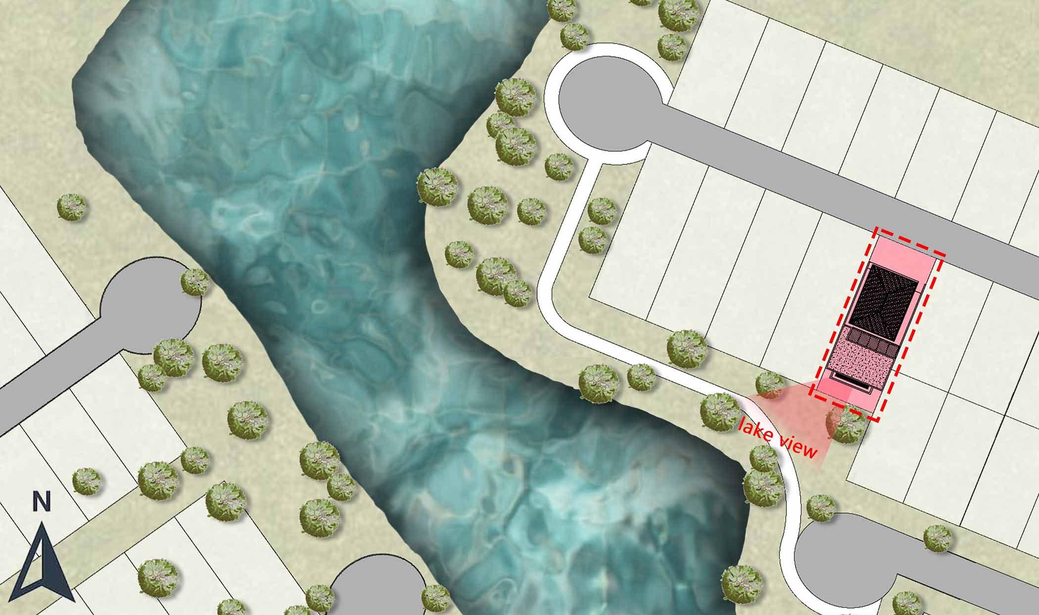 View depan rumah menghadap danau (Dok: Atelier ARA)
