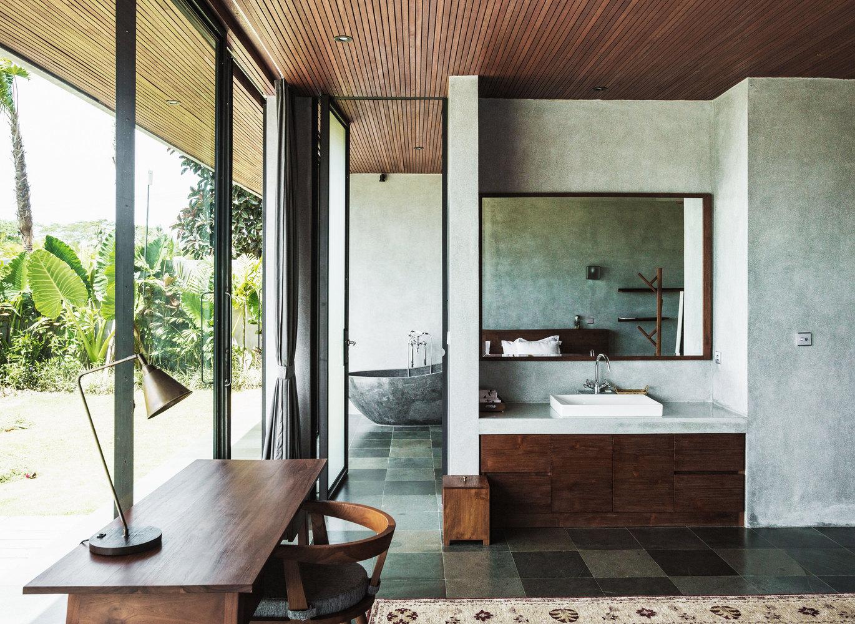 Area kamar tidur dengan akses penuh view dan cahaya // archdaily.com