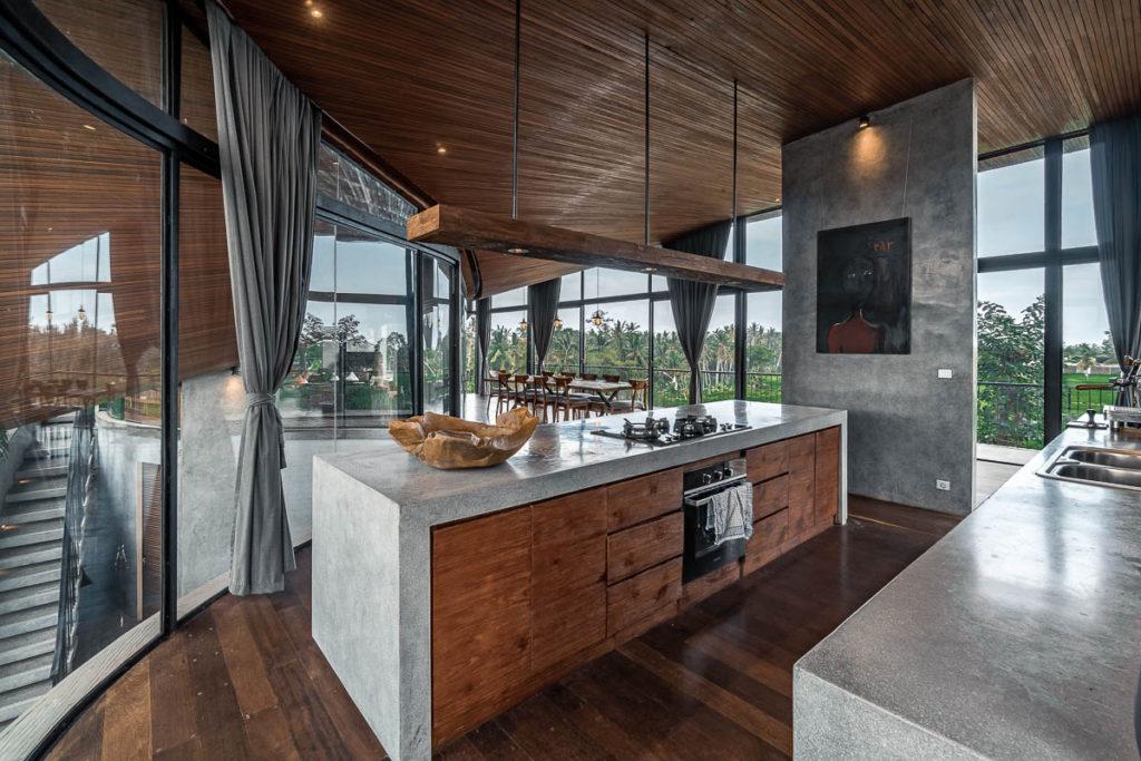 Dapur minimalis industrial dalam loft modern kontemporer (Sumber: loftspiration.com)