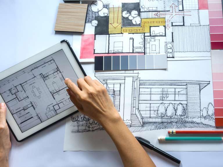 Desainer interior membantu Anda membuat perencanaan yang tepat // saga.co.uk