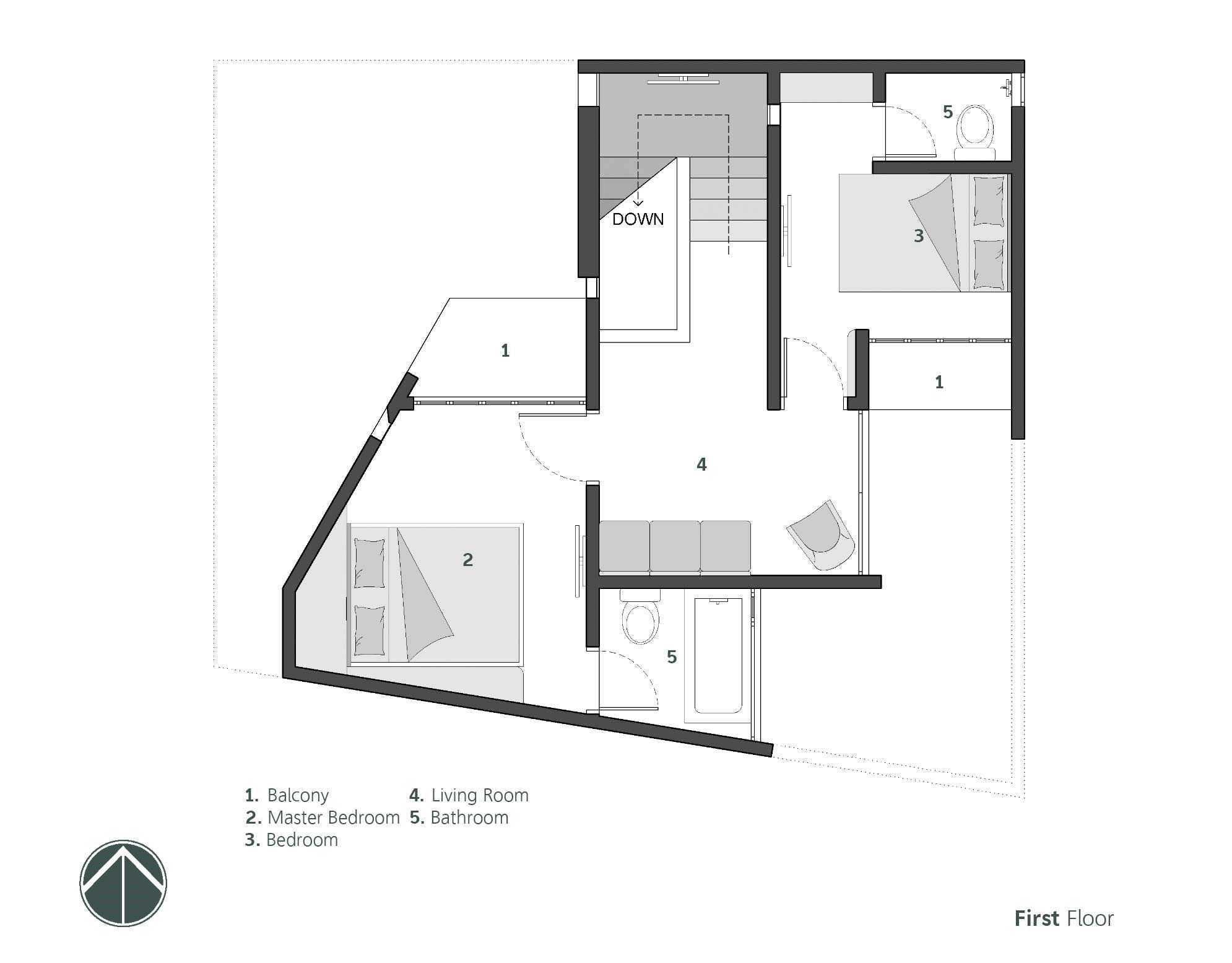 Denah lantai dua // Ruangan ASA