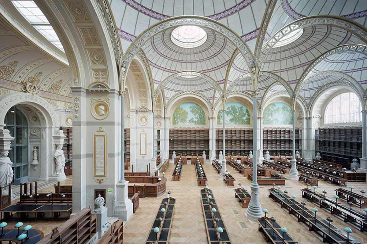 Perpustakaan megah di Paris, National Library of France // curbed.com