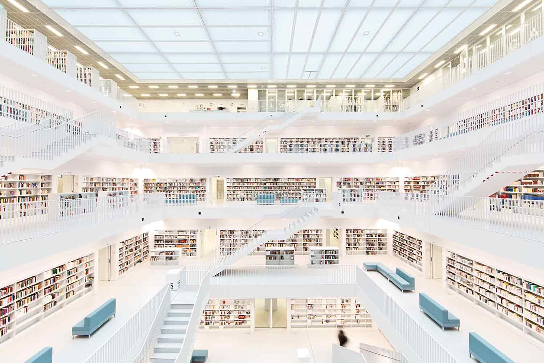 Perpustakaan megah di Jerman, Stadtbibliothek Stuttgart // wosilat.de