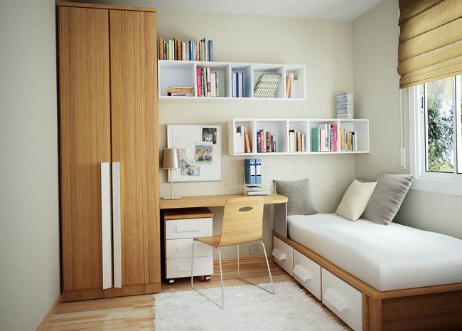 Ruang belajar minimalis dalam kamar // theelitehotel.com