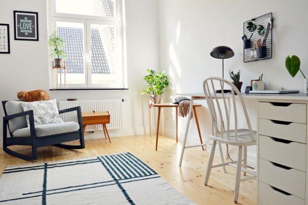 Ruang belajar Skandinavian yang manis dan cantik (Sumber: architectureartdesigns.com)