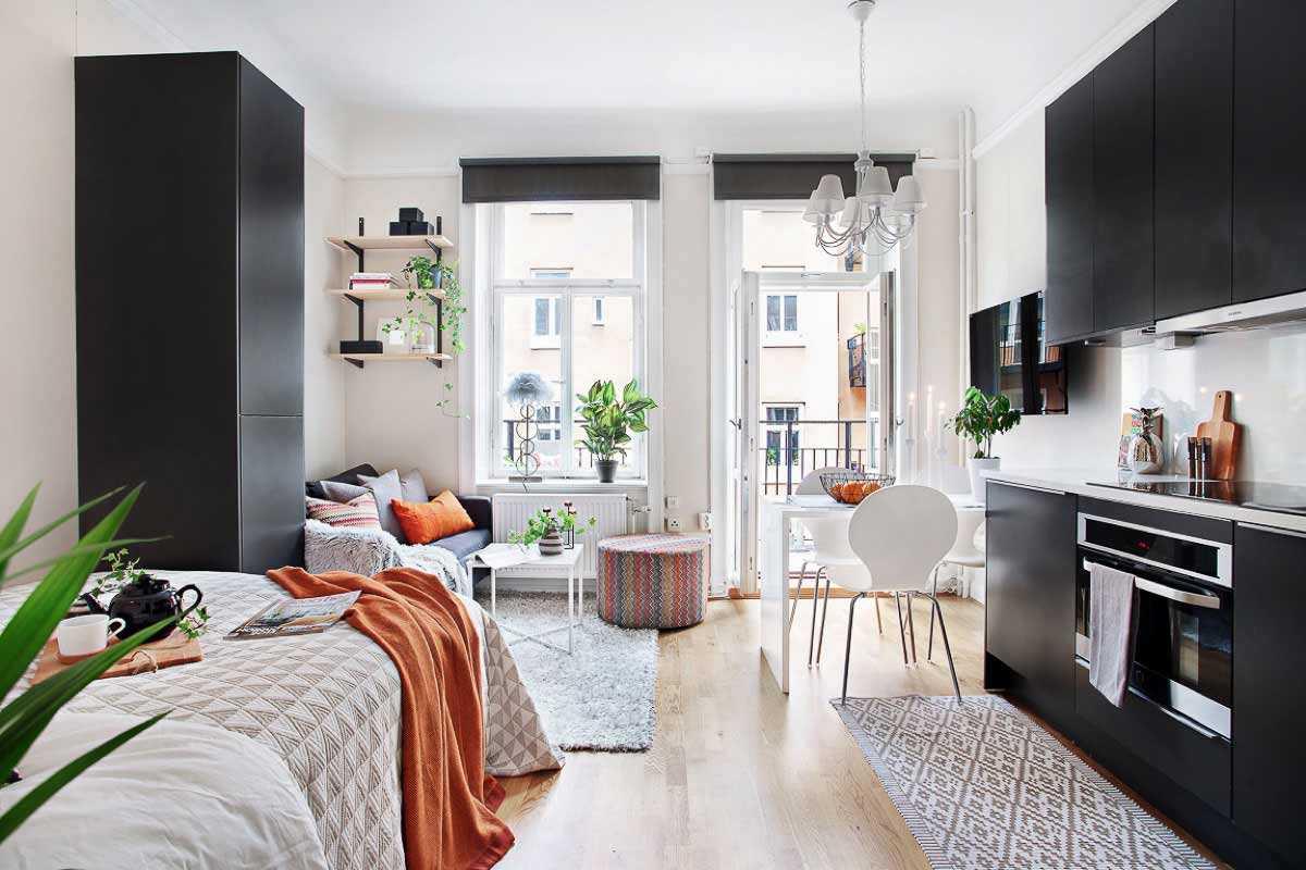 Desain Interior Apartemen Studio 21 m2 yang Super Stylish dan Bikin Betah   Foto artikel Arsitag