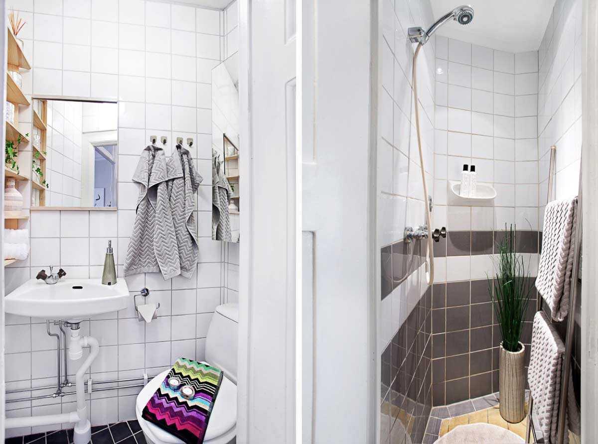 Kamar mandi komplet di apartemen studio minimalis // home-designing.com