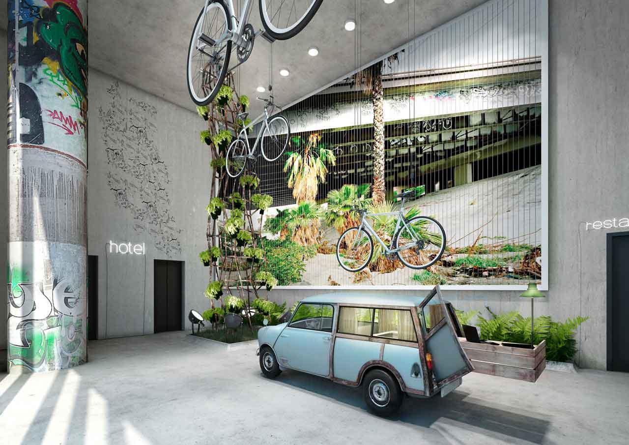 Desain Hotel Lucu dan Kekinian di Berlin untuk Liburan Setelah Karantina Berakhir | Foto artikel Arsitag