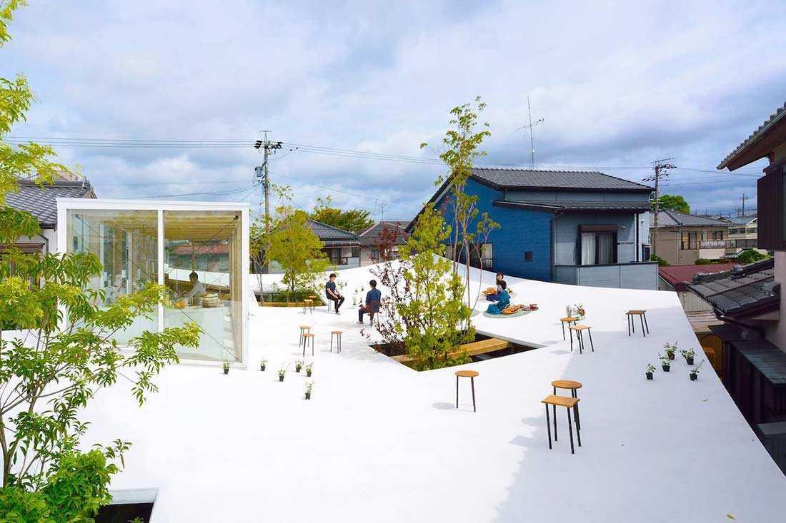 Rooftop menakjubkan milik Sanno's Office karya Studio Velocity, via design-milk.com
