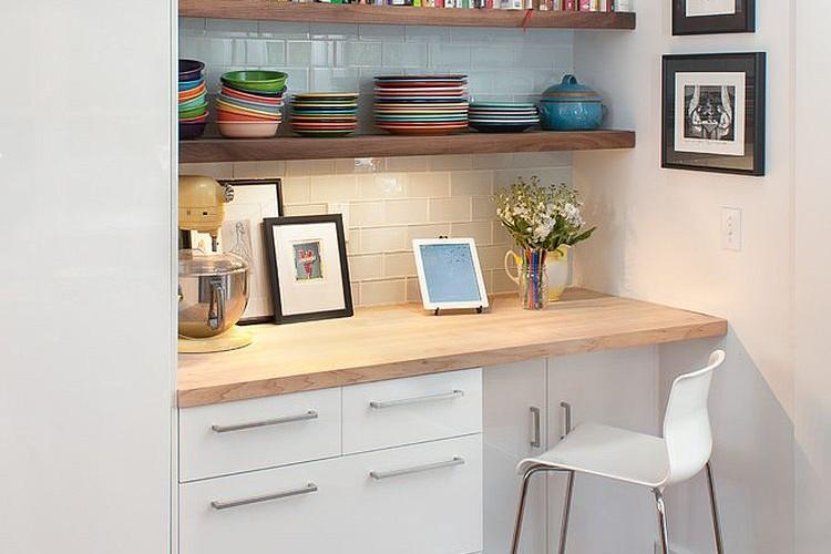 Ruang kerja di sudut dapur karya home blog zone // decoist.com