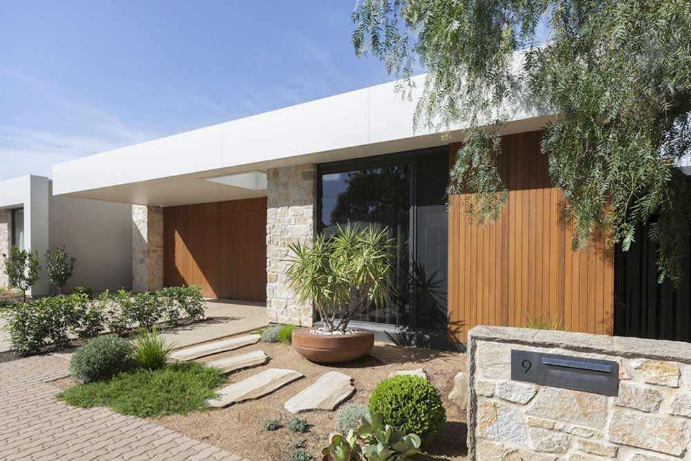 Taman mid-century modern karya Outset Design // ecooutdoor.com.au