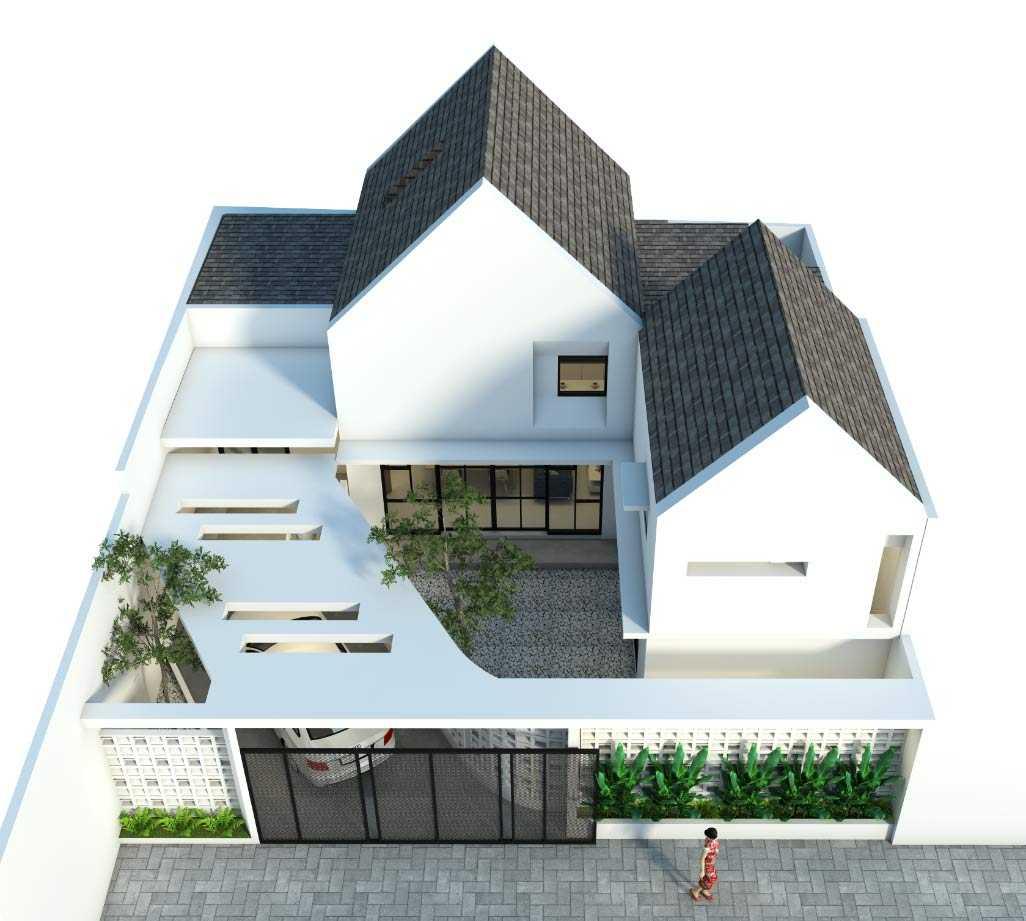 Perspektif atas model 3D Rumah Sewon // arsitag.com