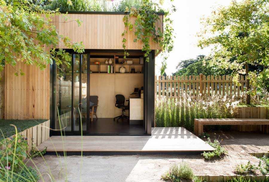 Desain Kantor Mungil di Taman yang Bikin Kerja Jadi Tidak Membosankan | Foto artikel Arsitag