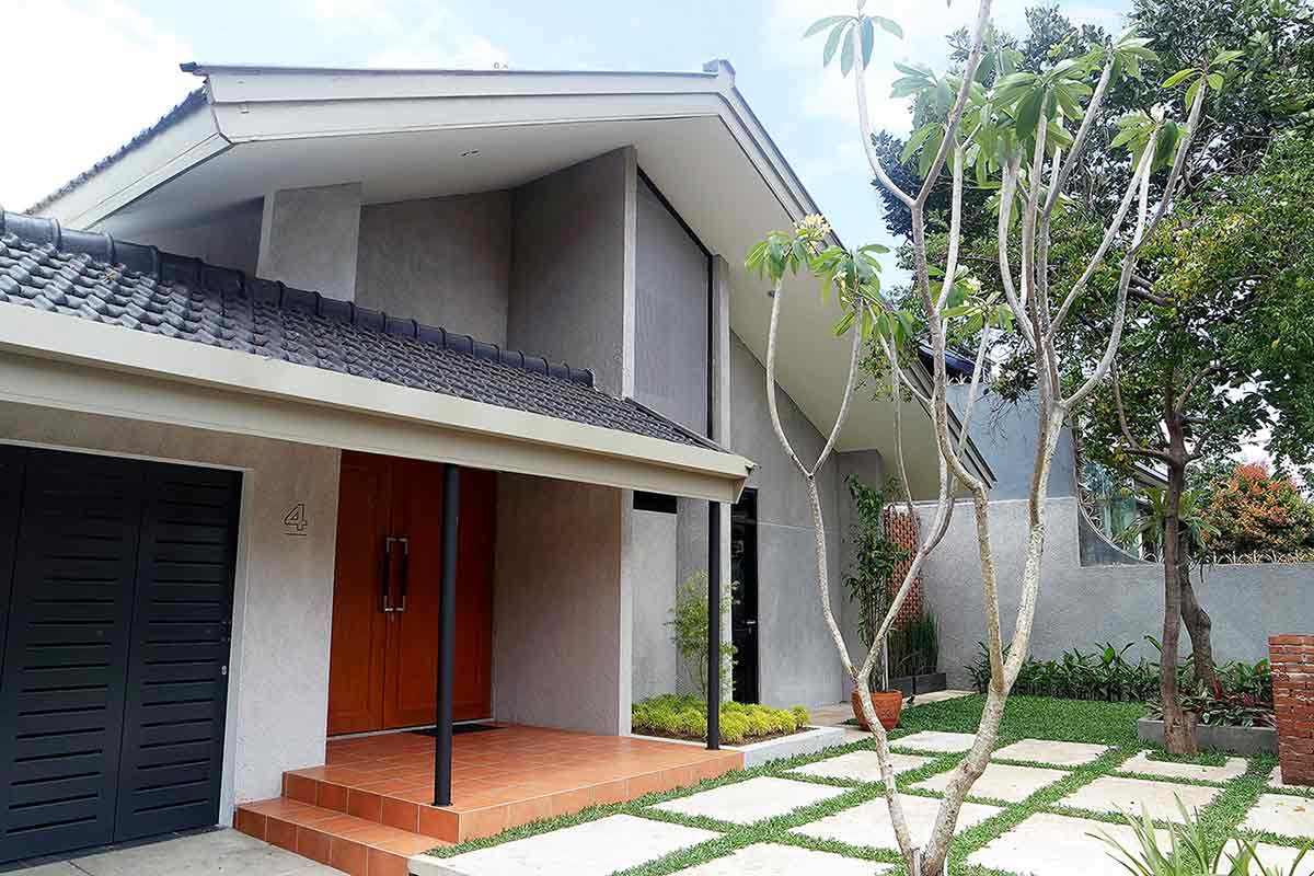 Rumah Tropis Satu Lantai   Foto artikel Arsitag