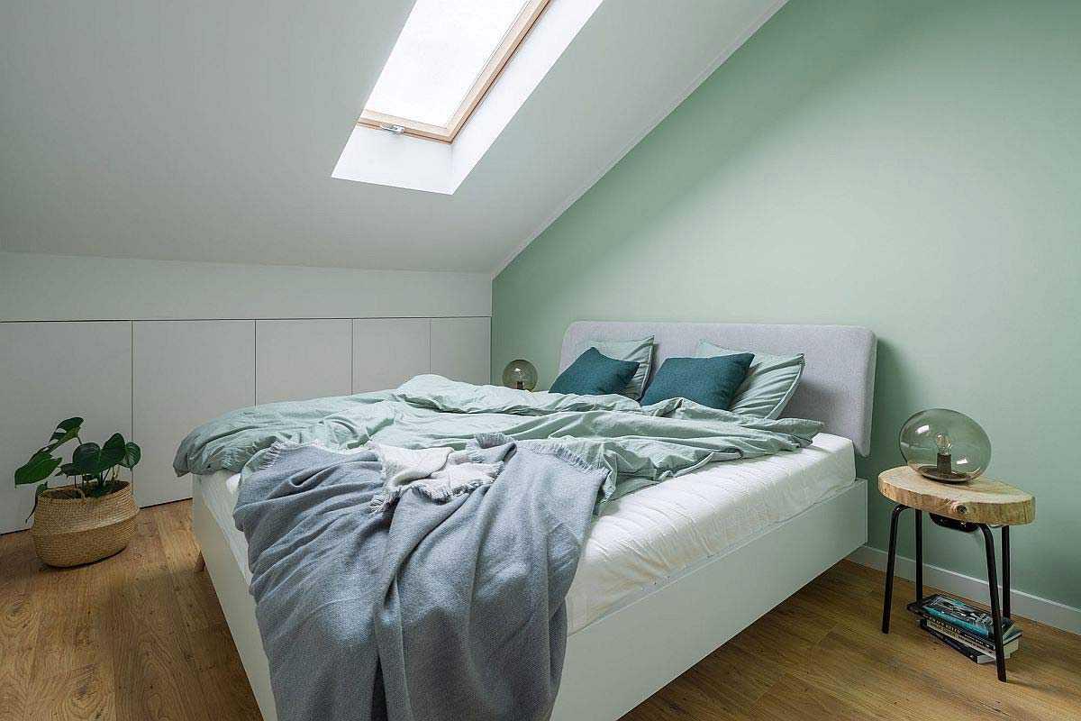 Kamar tidur nyaman bernuansa pastel,karya 3XEL Architekci, viadecoist.com