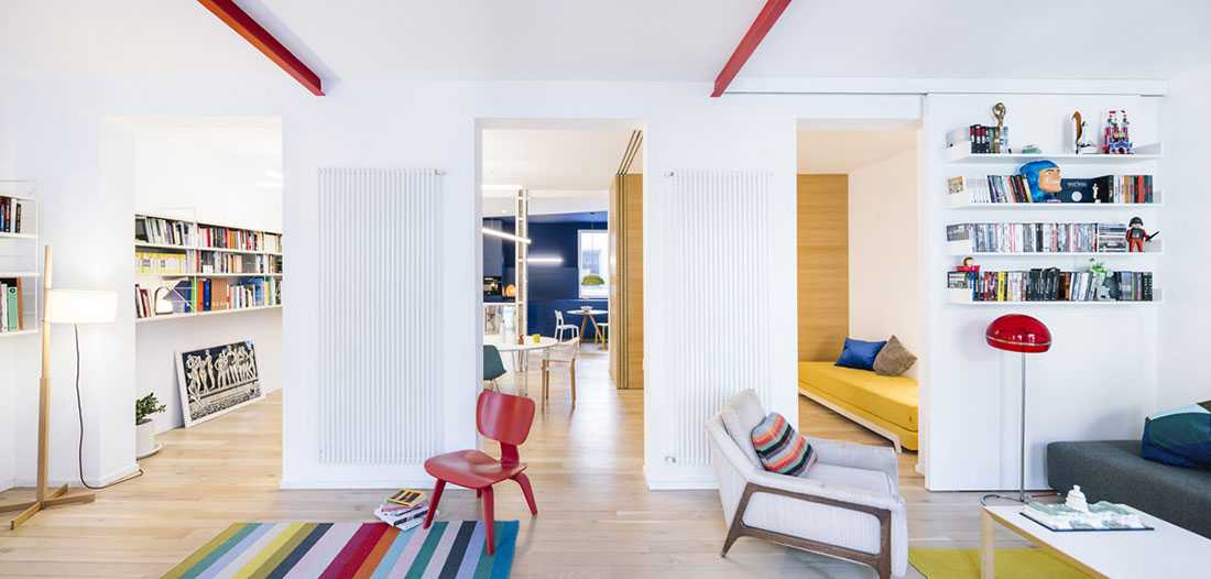 Desain Rumah dengan Sentuhan Warna-Warni Pop yang Lucu | Foto artikel Arsitag