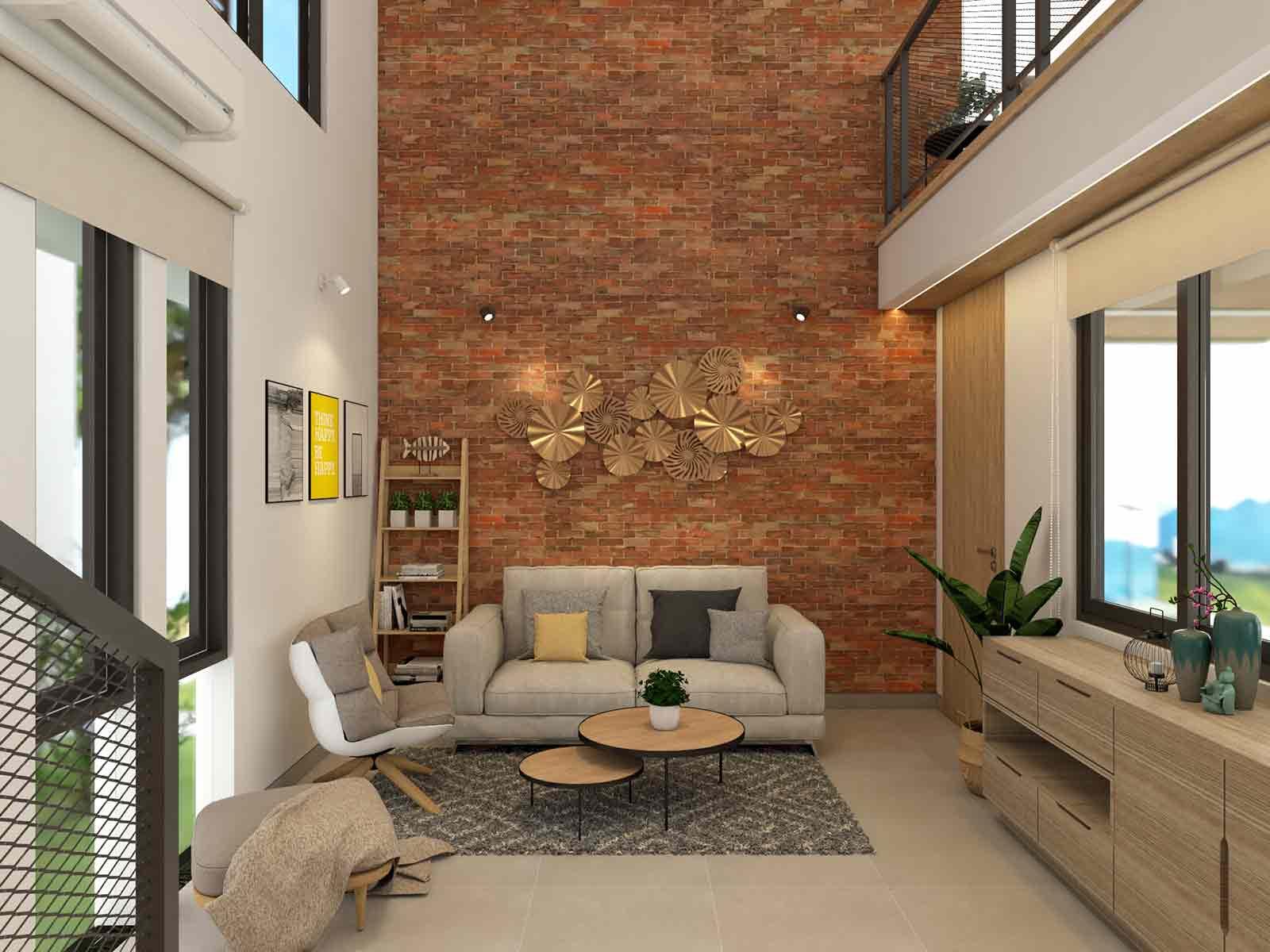 Ruang tamu di lantai 1 // arsitag.com