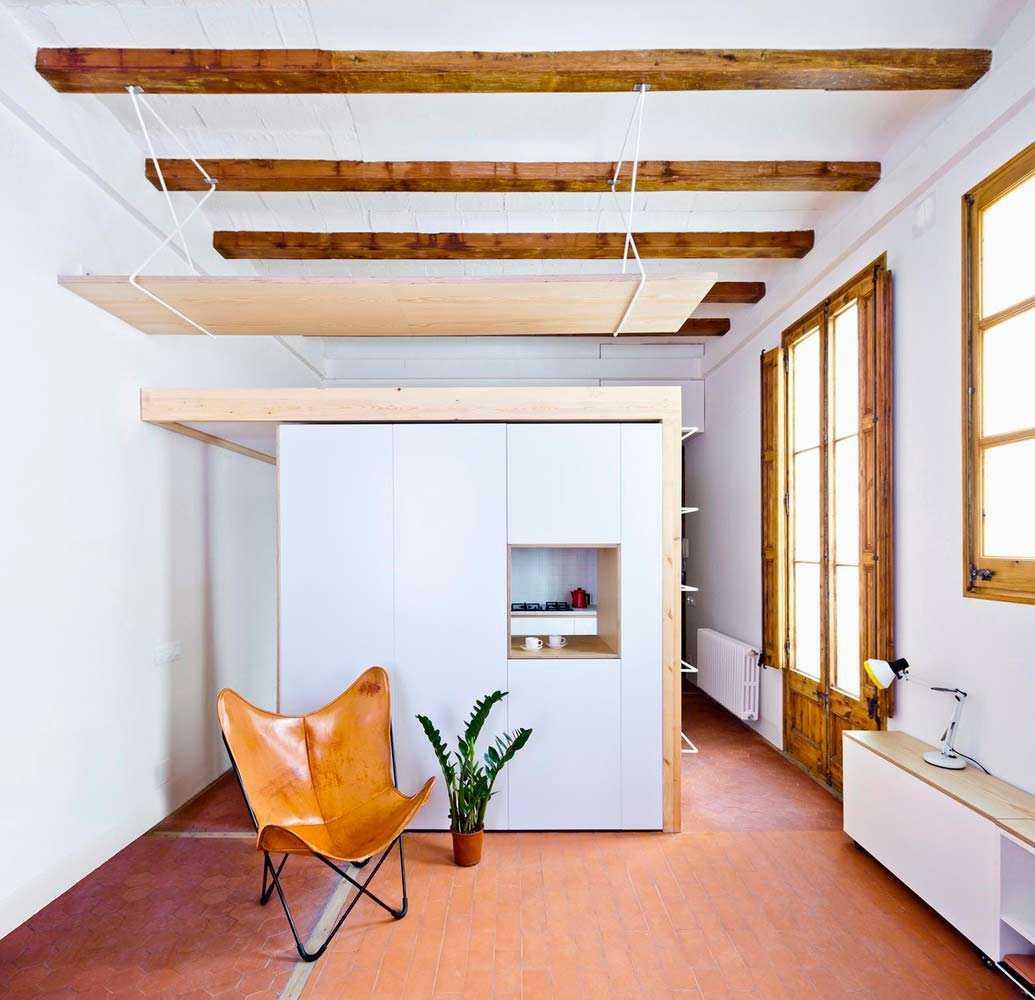 Desain interior apartemen karya Anna & Eugeni Bach via Archdaily.com