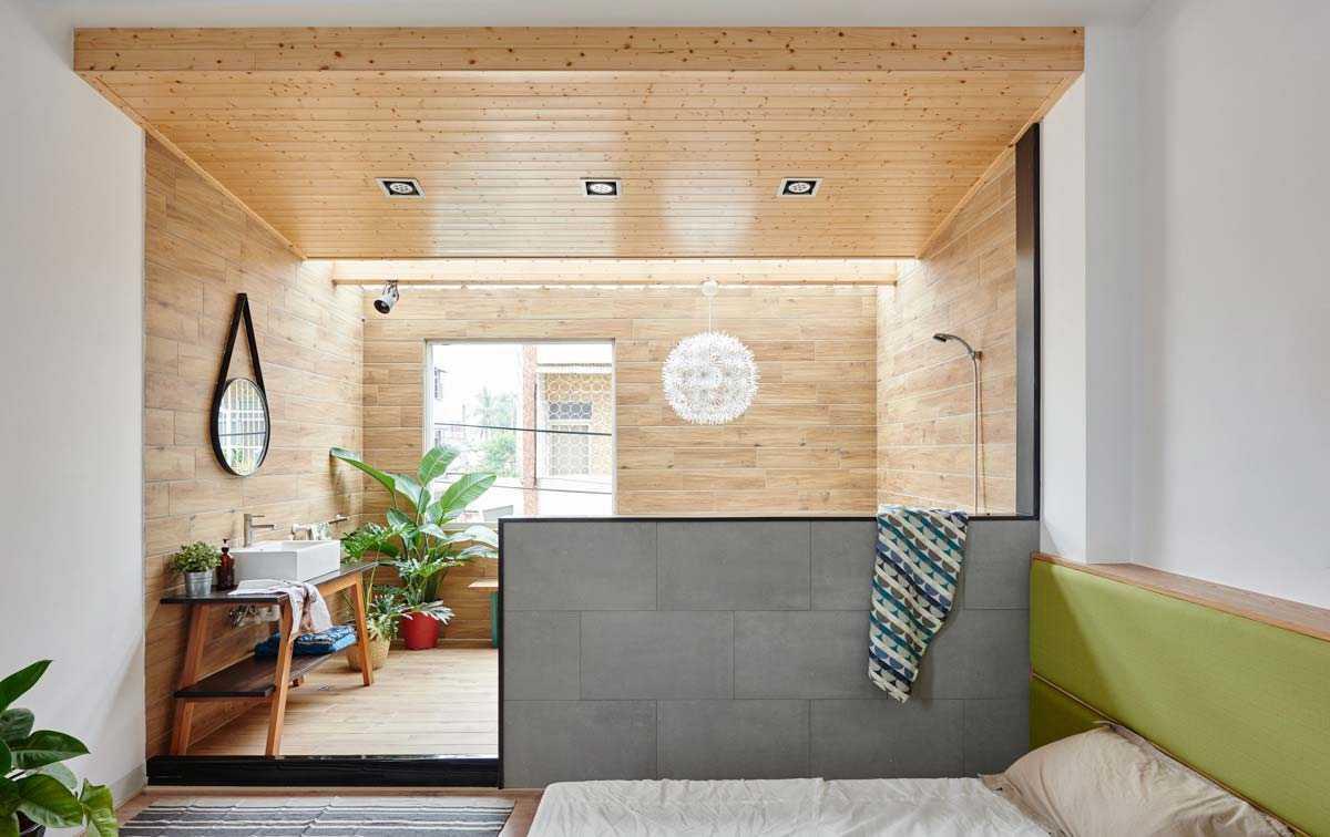 Kamar mandi yang menyatu dengan kamar tidur karya HAO Design, via archdaily.com