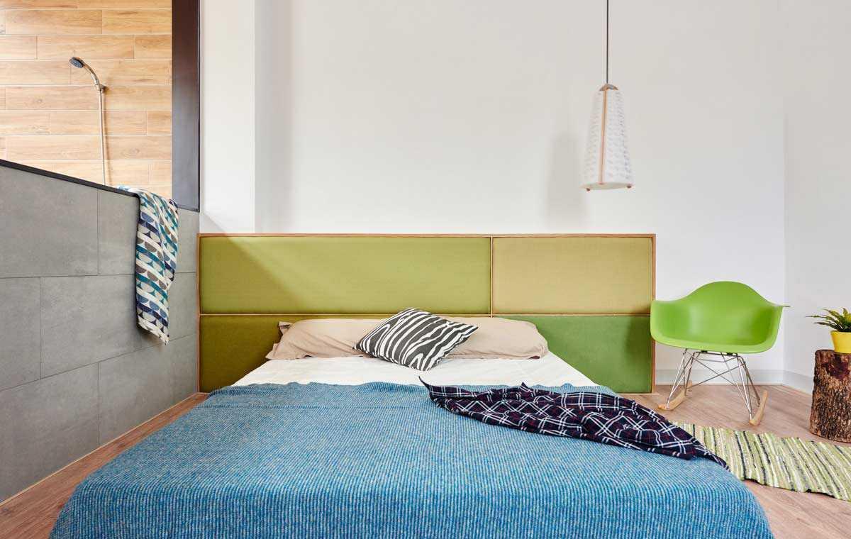 Segarnya warna hijau sebagai bagian dekorasi ruangan karya HAO Design, via archdaily.com