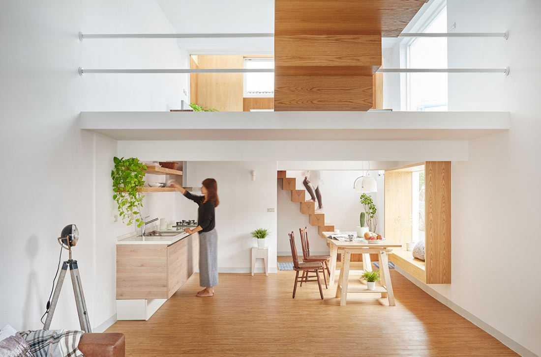 Cantiknya Perpaduan Warna Putih dan Finishing Kayu untuk Interior Rumah   Foto artikel Arsitag