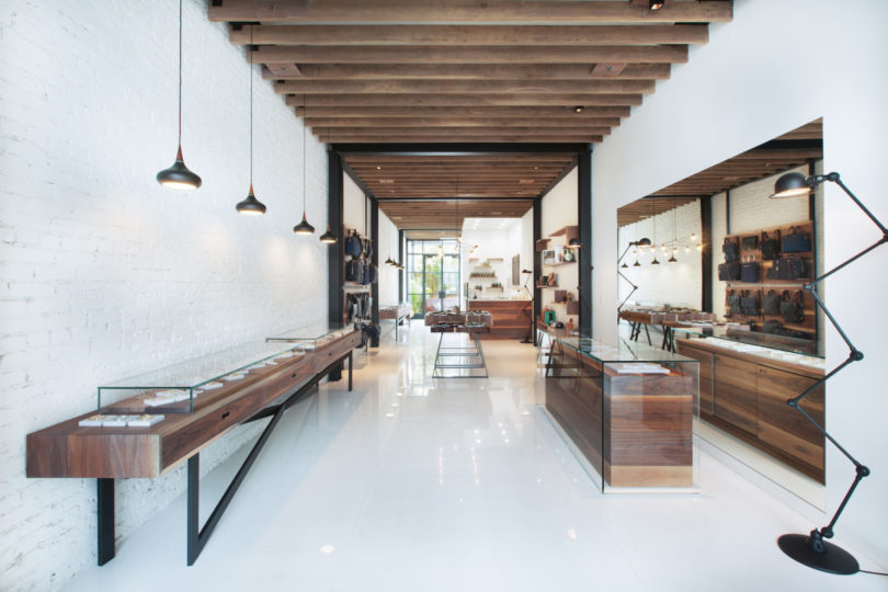 Desain interior toko minimalis karya Analog Modern, via design-milk.com
