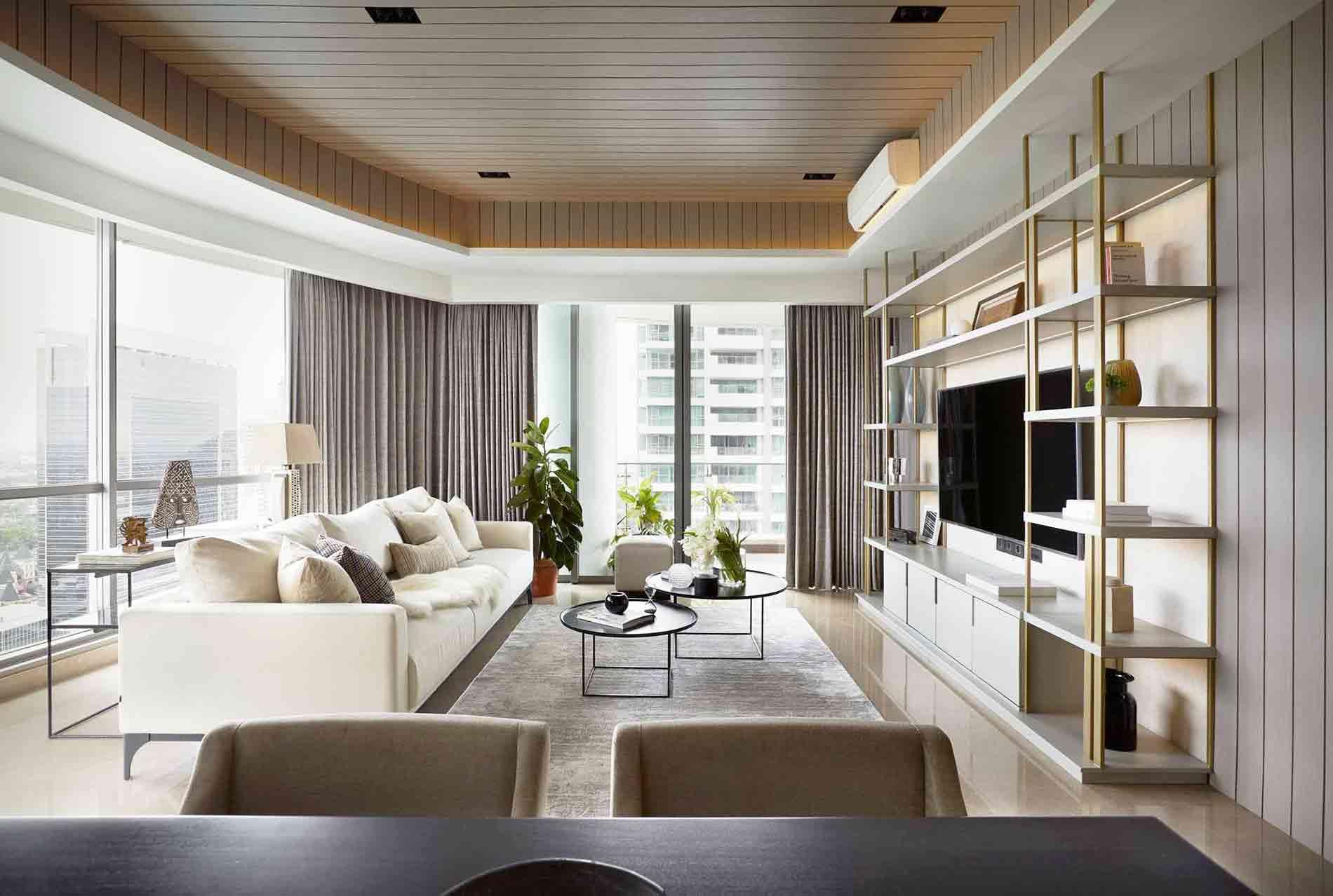 Desain Apartemen Mewah dan Elegan dengan Permainan Material dan Tekstur | Foto artikel Arsitag