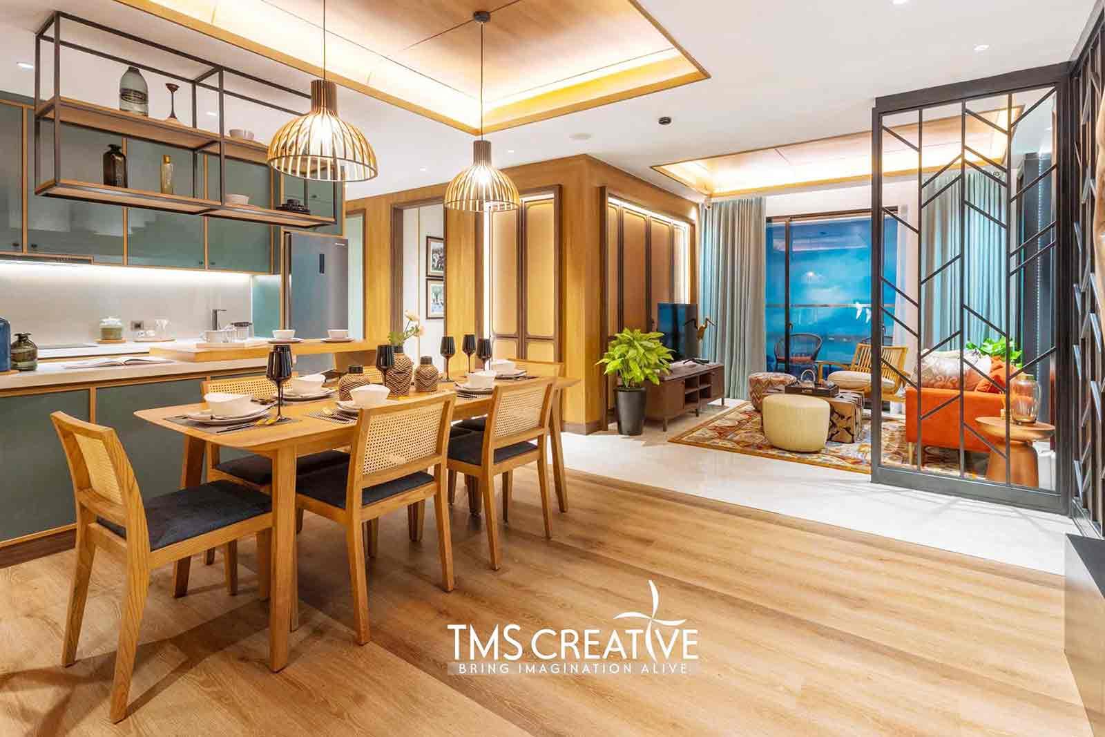 Desain ruang makan dan dapur yang estetik namun fungsional karya TMS Creative, via arsitag.com