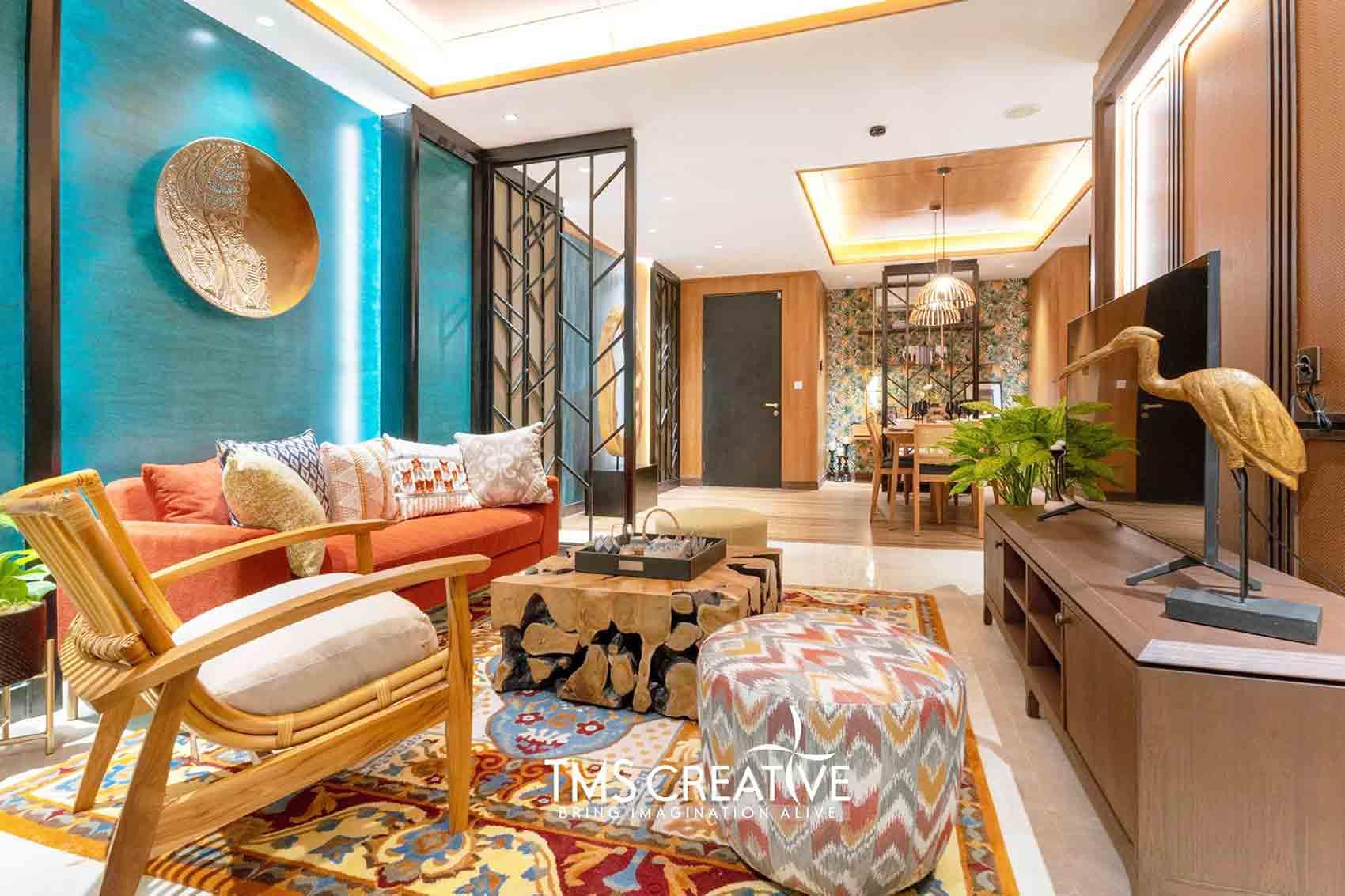 Desain Interior Apartemen Eklektik Kontemporer yang Glamor dan Elegan | Foto artikel Arsitag