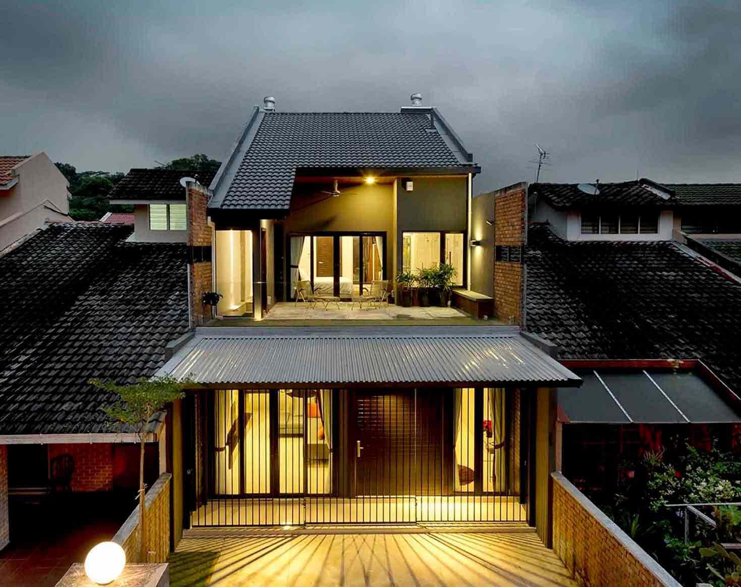 Desain Renovasi Rumah Industrial Minimalis dengan Balkon Taman Super Luas | Foto artikel Arsitag