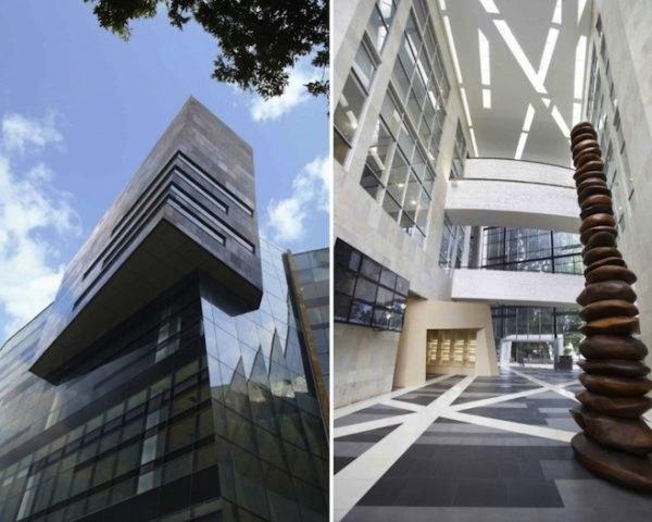 Desain gedung Perpustakaan UI, karya DCM Indonesia, via inhabitat.com