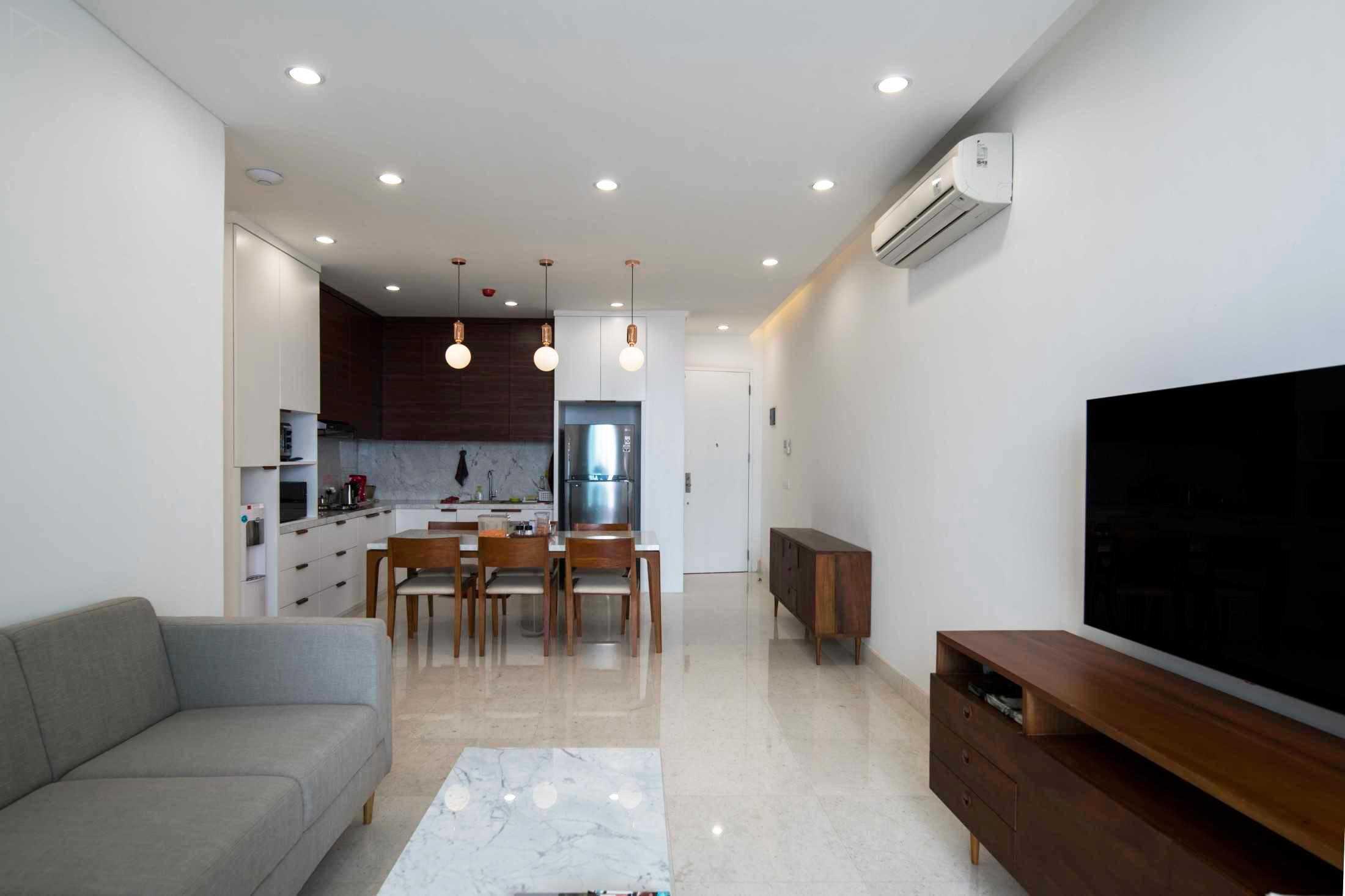 Desain Interior Apartemen minimalis Serba Putih yang Simpel dan Elegan   Foto artikel Arsitag