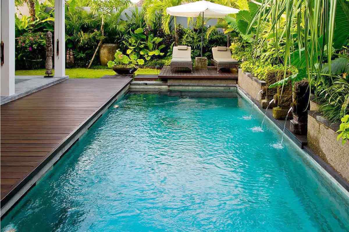 Kolam renang ala tropis, vila karya OG Architects, via arsitag.com