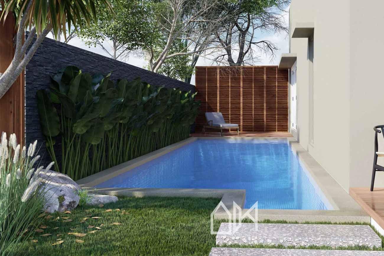 Taman kolam renang di area sempit, karya Arbiy Kreasi, via arsitag.com