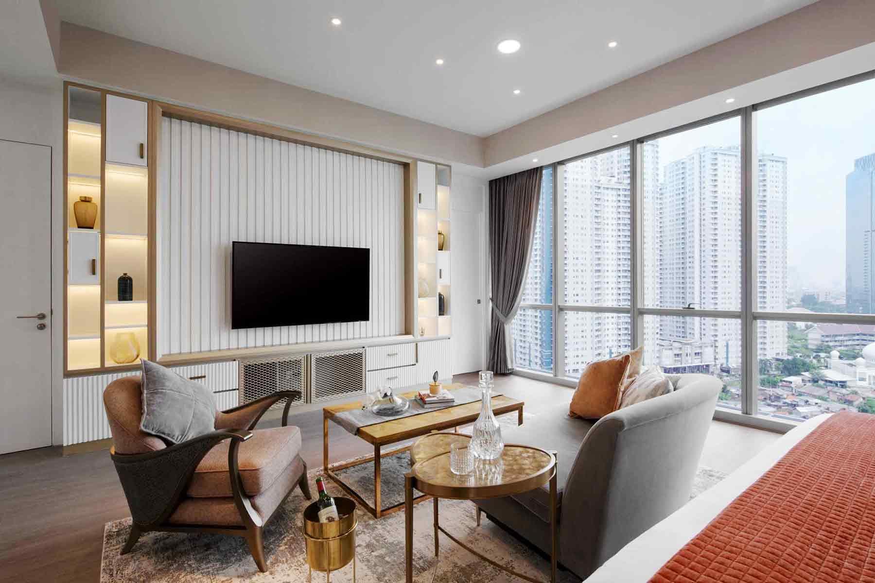 Desain Interior Apartemen Mewah dengan Gaya Klasik Kontemporer yang Memukau   Foto artikel Arsitag