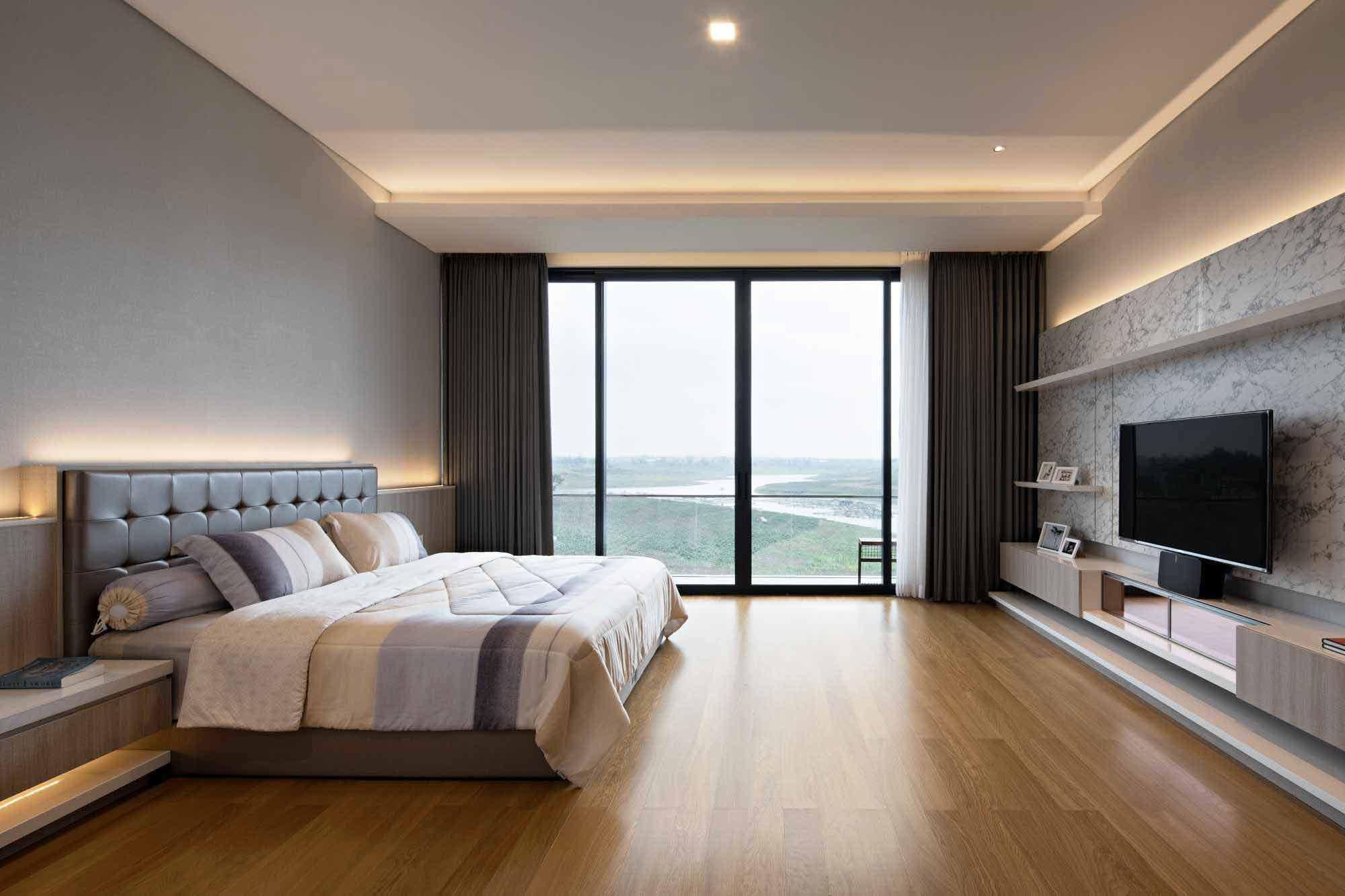 Inspirasi Jendela Full dari Lantai sampai Plafon untuk Rumah Bermandikan Cahaya   Foto artikel Arsitag