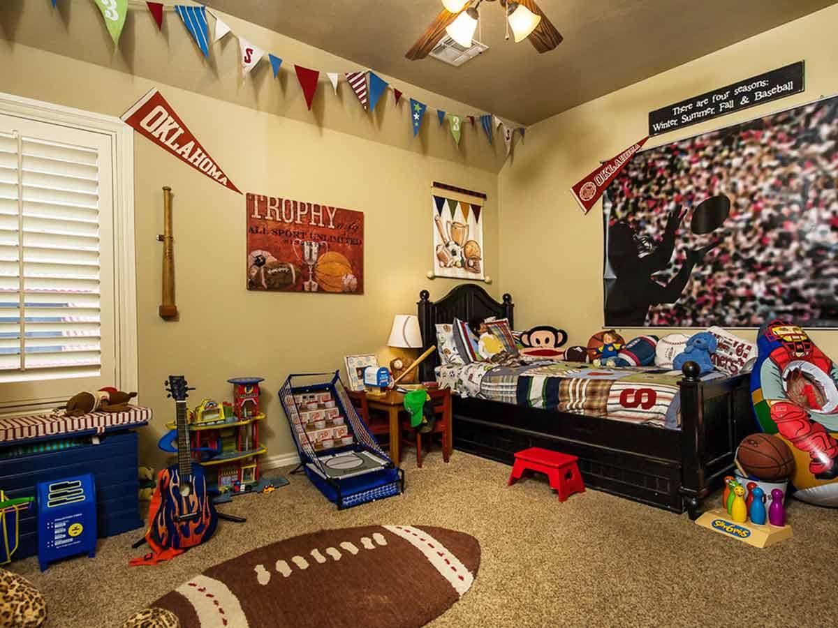 Dekorasi kamar tema olahraga, via flickr.com