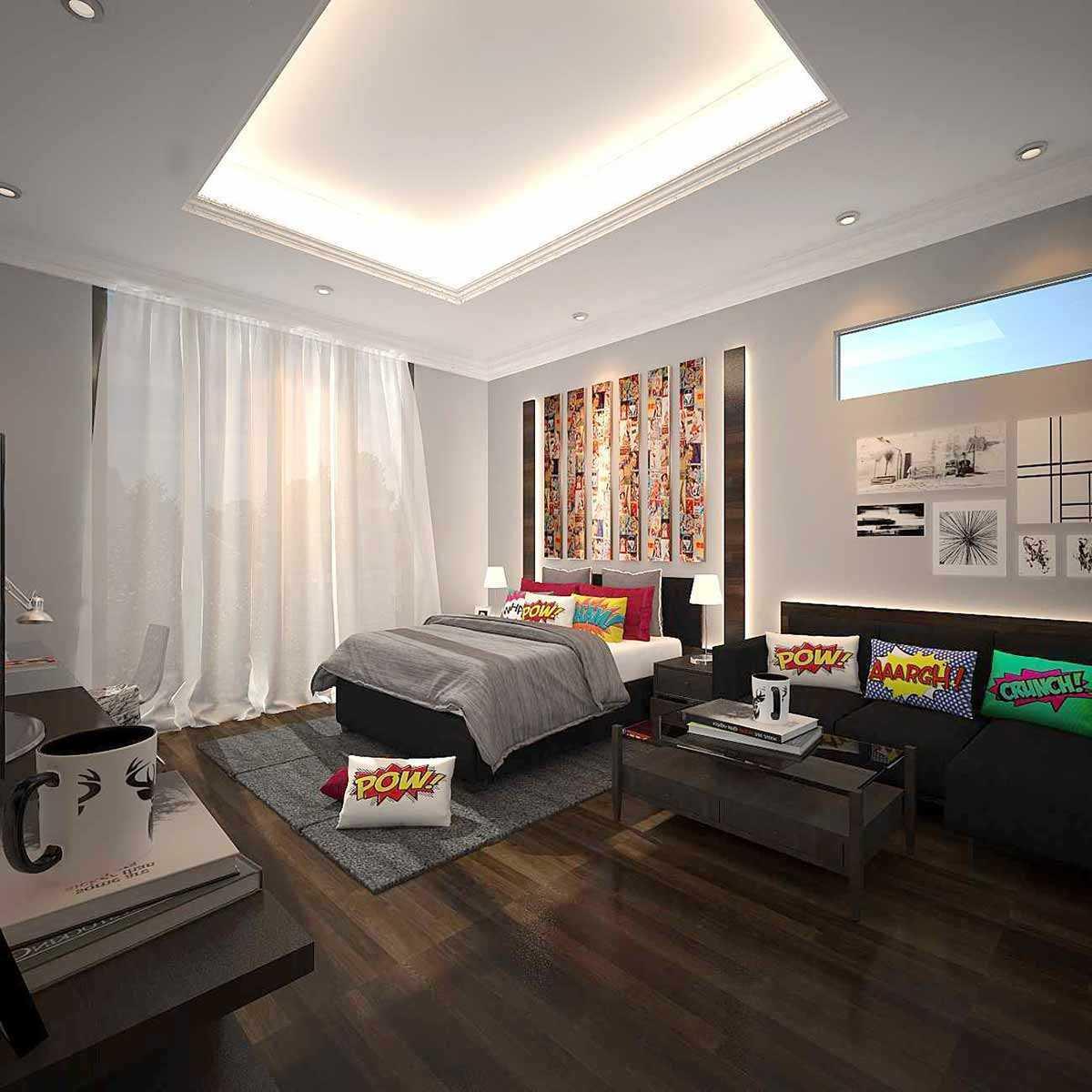 Dekorasi kamar tema game dan komik, karya Kaye Interior Design, via arsitag.com