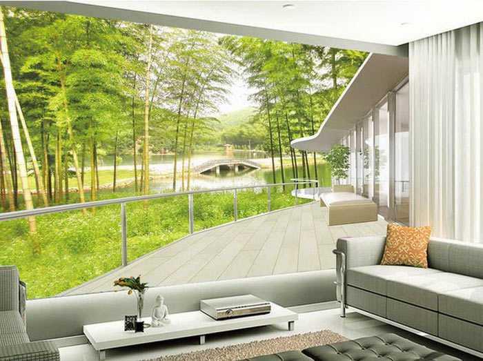 Wallpaper 3D untuk suasana yang lebih hidup, via homeloof.com