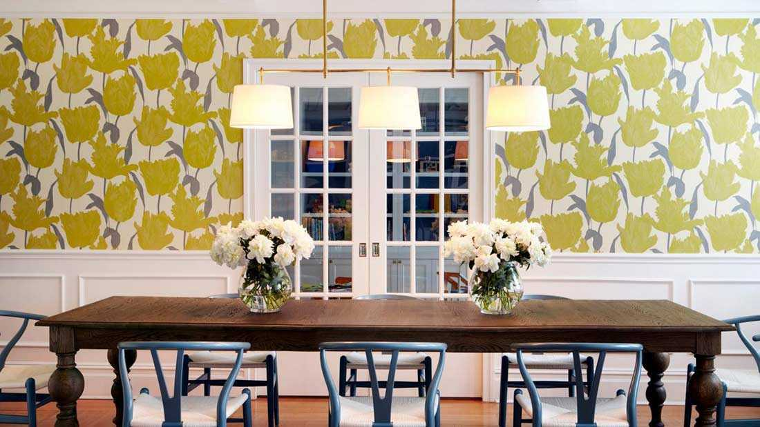 Wallpaper untuk percantik ruang makan, via trendir.com